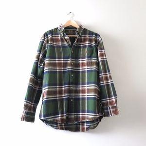 U.S. Polo Assn. Men's Plaid Flannel Shirt Green M